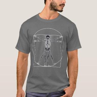 Obscurité squelettique d'homme de Vitruvian T-shirt