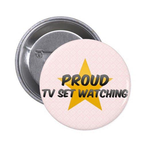 Observation fière de poste TV Badges Avec Agrafe