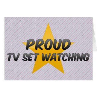 Observation fière de poste TV Cartes De Vœux