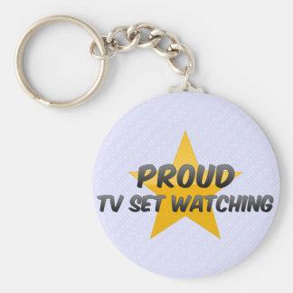 Observation fière de poste TV Porte-clé