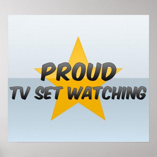 Observation fière de poste TV Affiches
