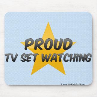 Observation fière de poste TV Tapis De Souris