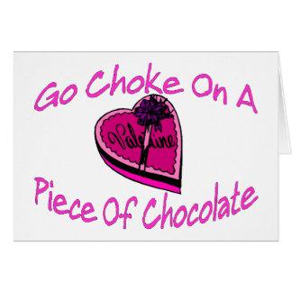 Obstruction sur le chocolat Valentine Carte De Vœux