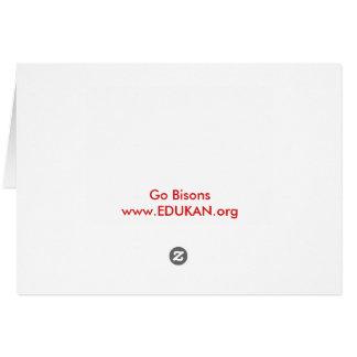 Obtenez à votre EDDIE le BISON carte/enveloppe Carte De Vœux
