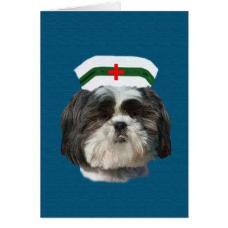 Obtenez bien, chien de Shih Tzu Carte De Vœux
