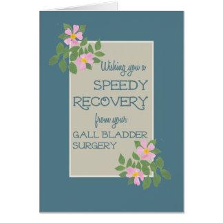 Obtenez bien de la chirurgie de vésicule biliaire, carte de vœux