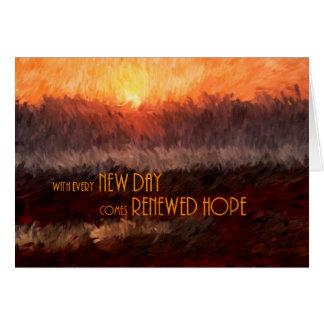 Obtenez bien pour le lever de soleil d'espoir carte de vœux