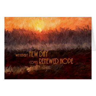 Obtenez bien pour le lever de soleil d'espoir cartes