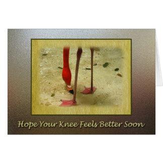 Obtenez bientôt la chirurgie bonne de genou carte de vœux