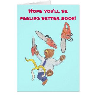 Obtenez la carte bonne avec l'ours de jonglerie