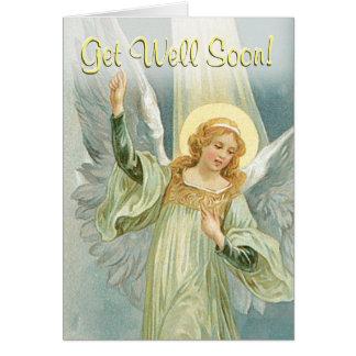 Obtenez l'ange gardien de puits bientôt - carte de vœux