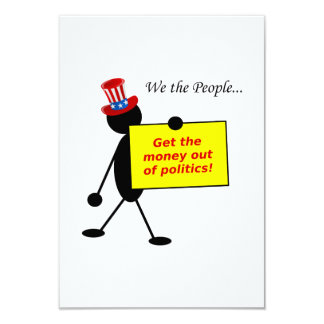 Obtenez l'argent hors de la politique carton d'invitation