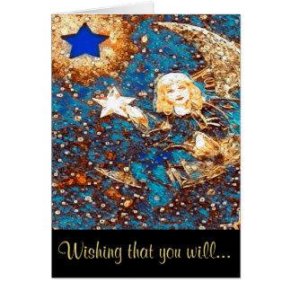 Obtenez le puits bientôt - faites un souhait carte de vœux