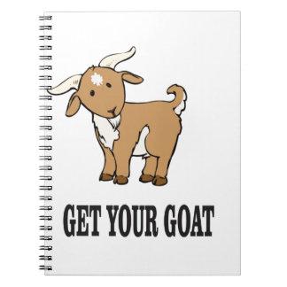 obtenez votre plaisanterie de chèvre carnet