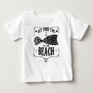 Obtenez votre queue à la plage t-shirt pour bébé