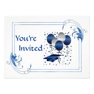 Obtention d un diplôme d études secondaires carton d'invitation