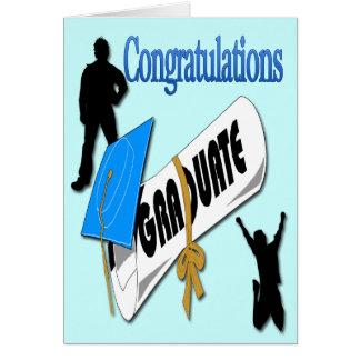 Obtention du diplôme bleue C de salutation de casq Carte De Vœux