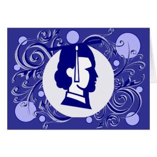Obtention du diplôme bleue de Flourish de point Carte De Vœux