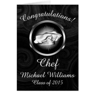 Obtention du diplôme culinaire d'école cartes