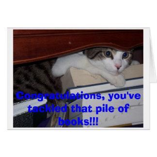 Obtention du diplôme de chaton carte de vœux
