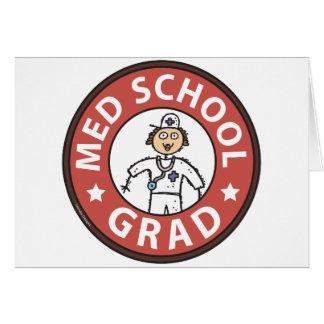 Obtention du diplôme de Faculté de Médecine (femel Carte De Vœux