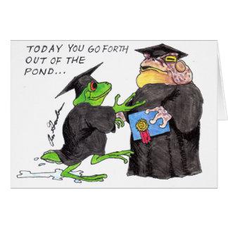 Obtention du diplôme de houblon carte de vœux