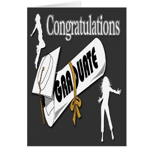 Obtention du diplôme (femelle) blanche Greetin de  Carte De Vœux