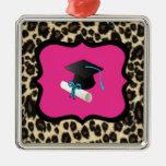 Obtention du diplôme - léopard/guépard roses décorations pour sapins de noël