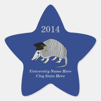 Obtention du diplôme mignonne bleue d'étoile de sticker étoile