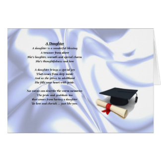 Obtention du diplôme - poème de fille carte de vœux