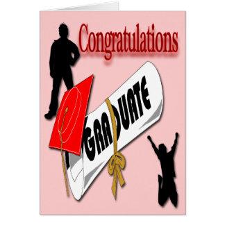 Obtention du diplôme rouge Ca de salutation de Carte De Vœux
