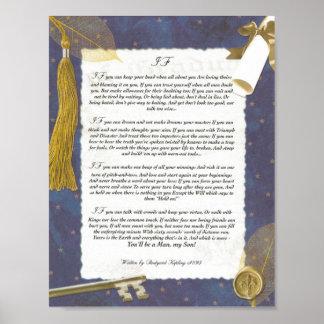 Obtention du diplôme, S'inspirant le poème par Rud Posters