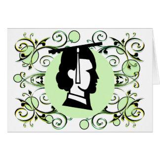 Obtention du diplôme verte de Flourish de point Cartes De Vœux
