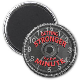 Obtention plus forte par la minute magnet rond 8 cm