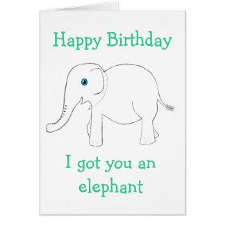Obtenu vous une carte de voeux d'éléphant
