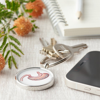 Obtiennent le porte - clé gainé porte-clé rond argenté