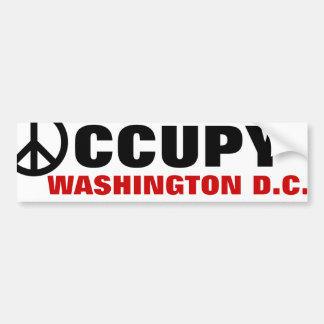 OCCUPEZ DC DE WASHINGTON AUTOCOLLANT DE VOITURE