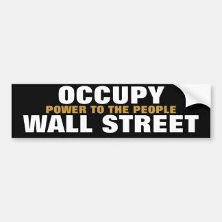 occupez la puissance de Wall Street aux personnes Autocollant De Voiture