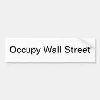 Occupez l'adhésif pour pare-chocs de Wall Street Autocollant De Voiture