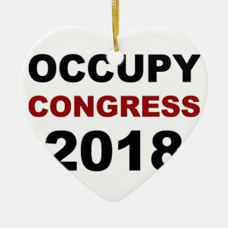 Occupez le congrès 2018 ornement cœur en céramique