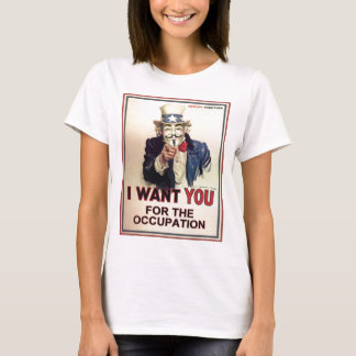 Occupez partout la pièce en t adaptée des femmes t-shirt