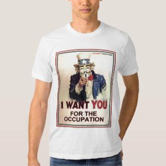 Occupez partout la pièce en t adaptée des hommes t-shirts