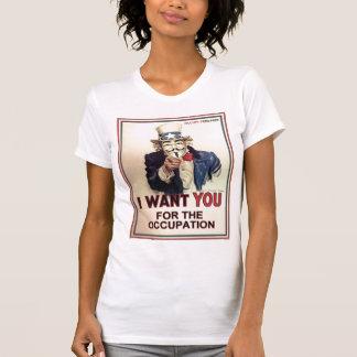 Occupez partout la pièce en t de Twofer des femmes T-shirt