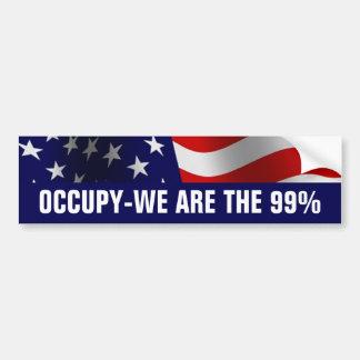 Occupez Wall Street 99 pour cent Autocollant De Voiture
