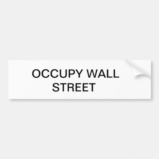 OCCUPEZ WALL STREET AUTOCOLLANTS POUR VOITURE