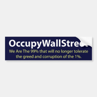 Occupez Wall Street Adhésif Pour Voiture