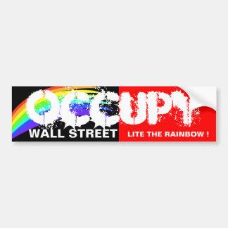 OCCUPEZ WALL STREET LITE L'ARC-EN-CIEL ! AUTOCOLLANT POUR VOITURE