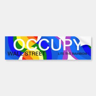 OCCUPEZ WALL STREET LITE L'ARC-EN-CIEL ! ADHÉSIFS POUR VOITURE
