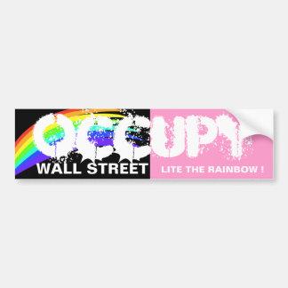 OCCUPEZ WALL STREET LITE L'ARC-EN-CIEL ! AUTOCOLLANTS POUR VOITURE