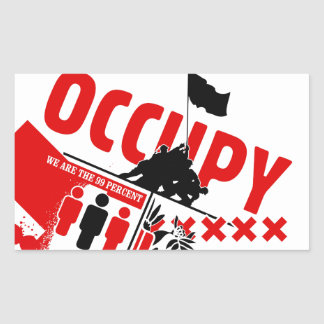 Occupez Wall Street : Nous sommes les 99% Sticker Rectangulaire